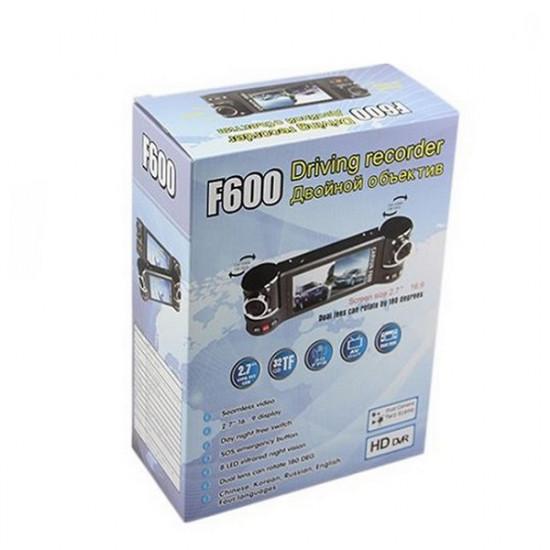 1280X480 Dual Lens Driving F600 Recorder Car Camera DVR Video 2021