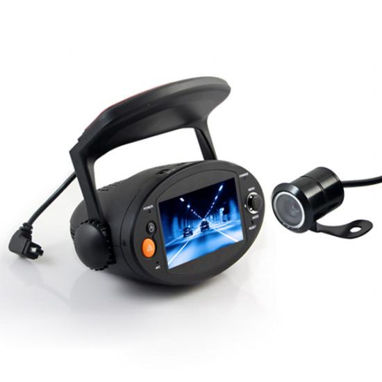 2.7inch HD 720P Car DVR GPS Dual Lens Vehicle Camera Video Recorder 2021