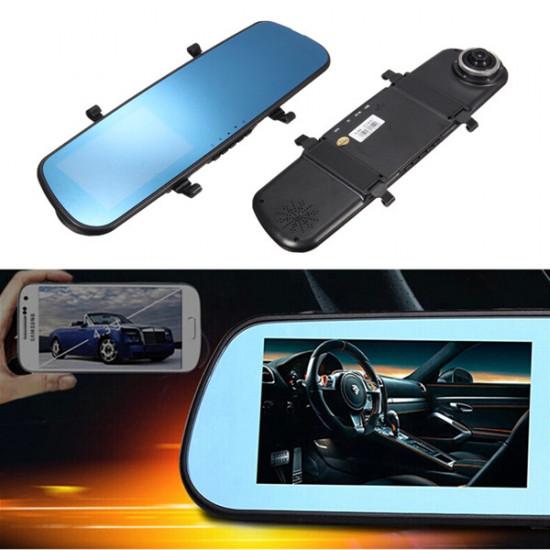 4.3 Inch HD 1080P Dash Cam Video Recorder Rearview Mirror Car Camera DVR 2021