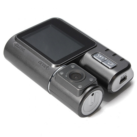 720P HD Car DVR Dual Cam Recorder IR Night Vision G-sensor 2inch 2021