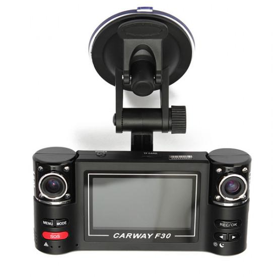 F30 HD Dual Lens Car Camera Vehicle DVR Dash Cam Video Recorder 2021