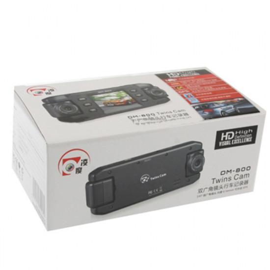 HD 720P 2.0 Inch Dual Lenses Vehicle DVR Car Camcorder Anti Shake 2021