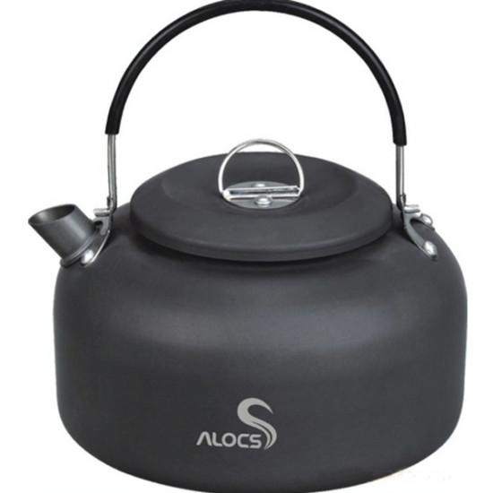 1.4L Aluminum Ashen Black Camping Picnic Water Kettle Teapot 2021