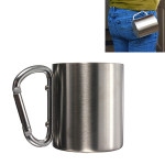 220ml Portable Stainless Steel Mug Camping Cup Carabiner Double Wall Camping & Hiking
