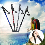 3-section Adjustable Canes Walking Hiking Sticks Trekking Pole Compass Camping & Hiking