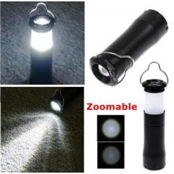 3W LED Waterproof Zoomable Lantern Light Lamp Torch Flashlight
