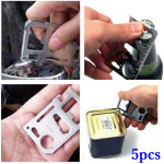 5pcs Outdoor Multifunction Knife Card Multifunctional Tool Camping & Hiking