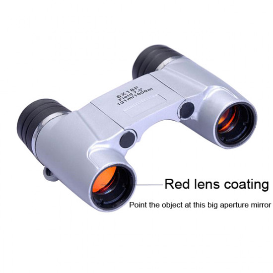 6X18F 131M/1000M Outdoor Binoculars Mini High Definition Telescope 2021