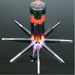 8 in 1 Multi-function Household Tools Screw Driver With 6 LED Camping & Hiking