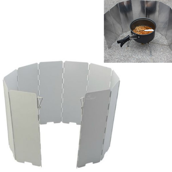 Camping Foldable Aluminum Plates BBQ Stove Wind Shield Camping & Hiking