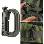 Carabiner Shackle Tactical Safe Buckle Backpack Locking Snap D-Ring Camping & Hiking