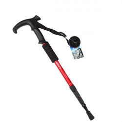 Durable Adjustable AntiShock Hiking Cane Trekking Walking Crutches