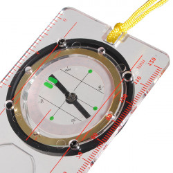 Liquidfilled Camping Compass Ruler Magnifier Protractor