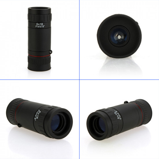 Mini Military 6X18 Monocular Optical Telescope outdoor Lens 2021