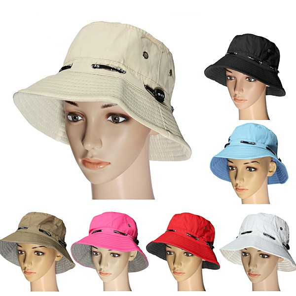 Outdoor Camping Hiking Traveling Sun Canvas Hat Cap Camping & Hiking