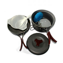 Outdoor Picnic Cooker Cookware Cooking Equipment Double Set