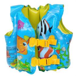 PVC Foam Pattern Assorted Life Jacket Vest for Children Blue