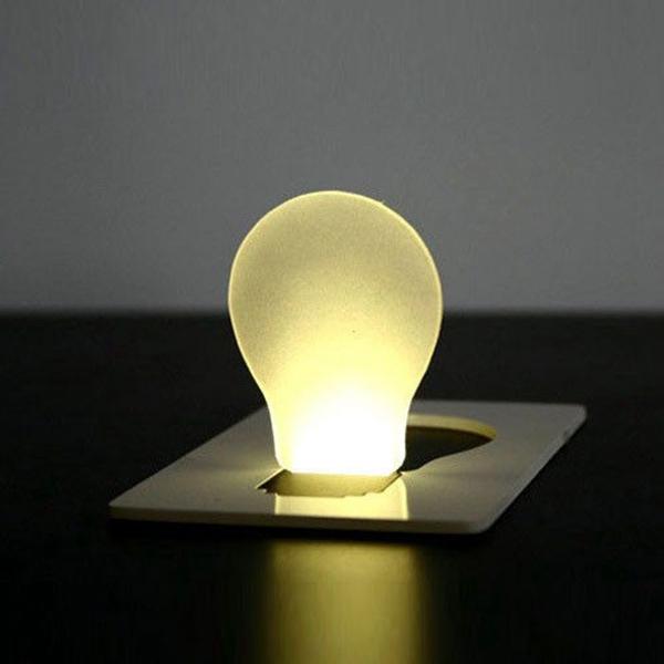 Portable LED Card Light Pocket Lamp Purse Wallet Emergency Light Camping & Hiking