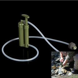 Portable Plastic Ceramic Water Filter Purifier Outdoor Survival
