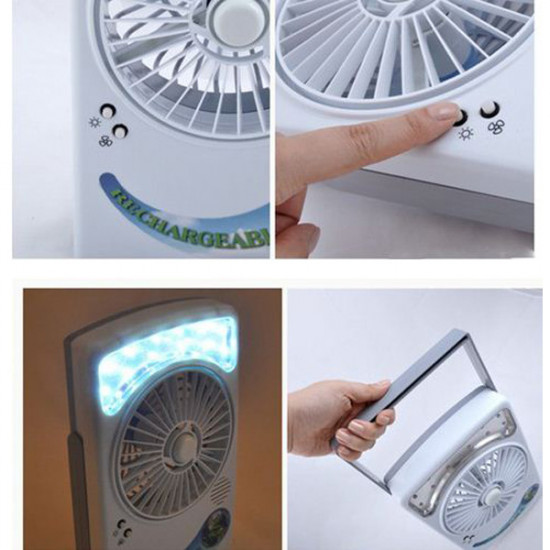 Solar Power Panel Desk Type USB Charging Fan With Eye-Protection Lamp 2021