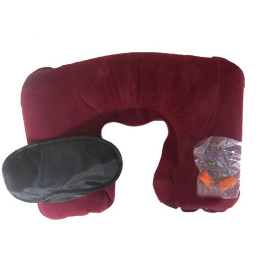 Travel Neck Cushion  pillow +Eye Mask for Sleep+Earplugs 2021
