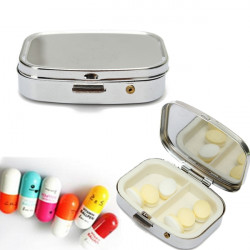Traveling Camping Outdoor Metal Pill Storage Case Box Organizer