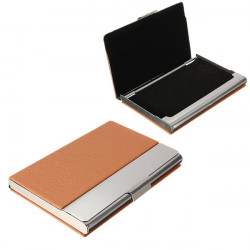 Traveling Outdoor Portable Aluminum Leather Card Case Box