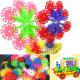 100Pcs Multicolor Snowflake Building Blocks Kid Educational Toy Puzzle 2021