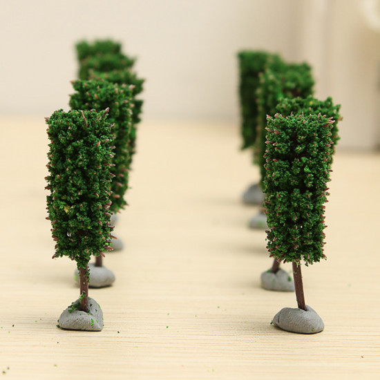 10PCS DIY Sand Model Material Cylindrical Plastic Model Tree 4.5CM 2021