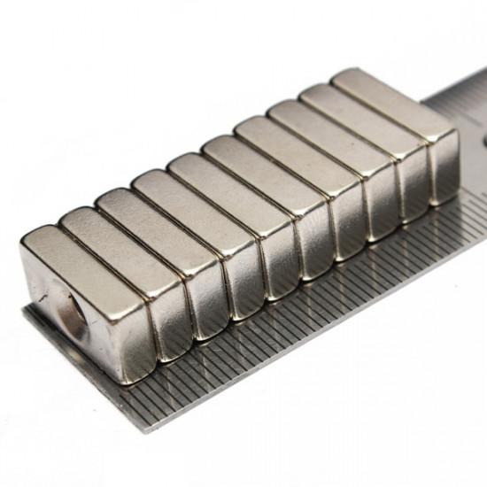 10pcs Block Magnets 20x10x5mm Hole 4mm Rare Earth Neodymium N5 2021