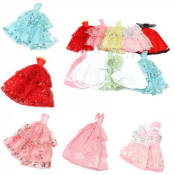 10x Fashion Handmade Clothes Dresses Outfit Wedding for Barbie Doll