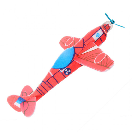 1 Pcs DIY Colorful Mini Bubble Paper Kids Toy Airplane Model 2021