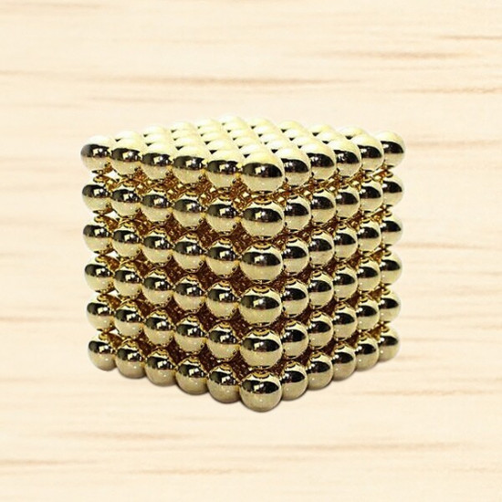 216Pcs 3mm Golden DIY Neocube Magic Beads Magnetic Balls Puzzle 2021