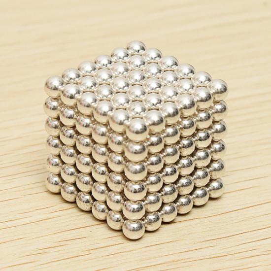 216Pcs 5mm White DIY Neocube Magic Beads Magnetic Balls Puzzle 2021