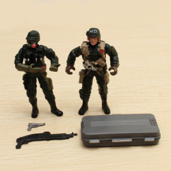 2PCS Special Forces Soldier Toy Action Figure Dynamic Model 1:18
