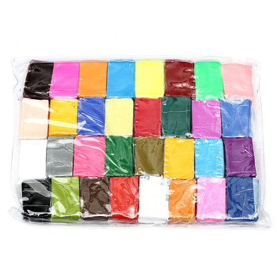 32pcs Colorful Fimo Polymer Modelling Soft Clay Craft DIY Toy 2021