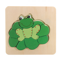 3D Assembled Frog Wooden Puzzle Preschool Educational Toy