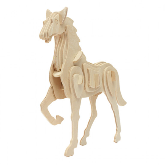 3D Jigsaw Puzzle Wooden Development Animal Horse Kids Toy 2021