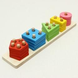 5 Column Shape Rectangular Line Puzzle Education Toys