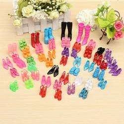 60 Pairs Trendy Multiple Styles Heels Sandals For Barbie Dolls
