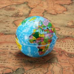 60mm World Map Foam Earth Globe Geography Ball