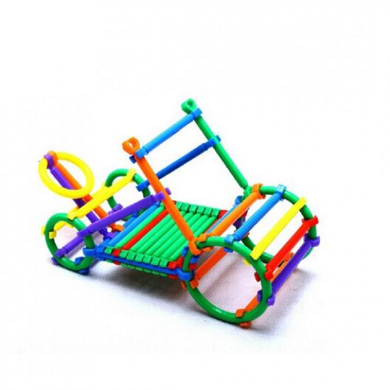 Children Educational Building Blocks Stick Assembled Plastic Toy 2021