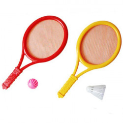 Children Outdoor Sport Toy Plastic Badminton Set Tennis Set