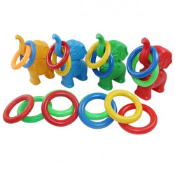 Children Outdoor Toy Elephant Colorful Throwing Circle Toy