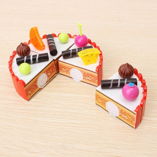 Children Play House Toys Chocolate Cake Assembled Birthday Gift Ideas