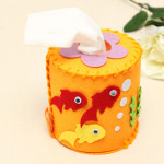 Clothe Art Paper Extraction Barrel DIY 3D Cylindrical Barrel Educational Toys
