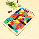 Colorful Wooden Brain Teaser Puzzle For Kids Educational Toys