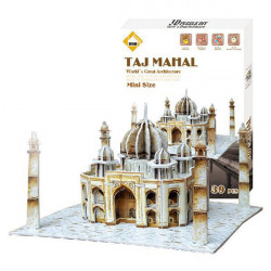 Colourful Carboard Jigsaw Model 3D DIY Puzzle Taj Mahal 39pcs