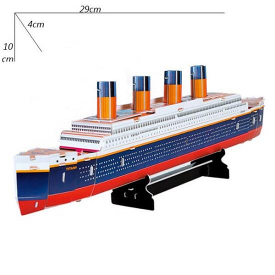 Colourful Carboard Jigsaw Model 3D Puzzle Titanic 30pcs DIY 2021
