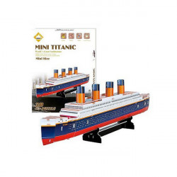 Colourful Carboard Jigsaw Model 3D Puzzle Titanic 30pcs DIY